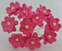 DEEP PINK CHERRY BLOSSOM Mulberry Paper Flowers